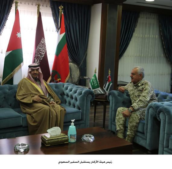 رئيس هيئة الأركان يستقبل السفير السعودي