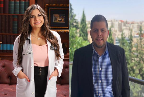 دكتورة مجد حداد والمهندس نواف حداد الف مبروك التخرج