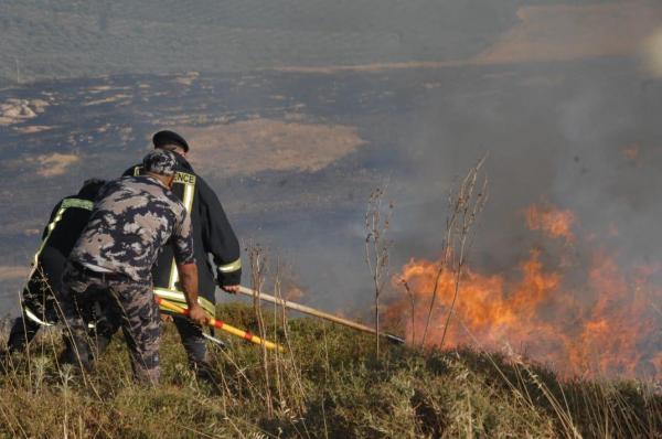 342 حريقا خلال 24 ساعة في الأردن