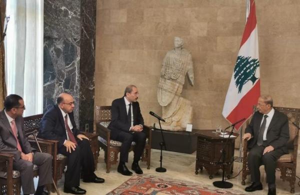 عون يشكر الملك على موقف الأردن المتضامن مع لبنان