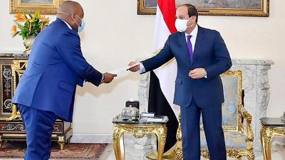 الرئيس السيسي يؤكد اعتزاز مصر بعلاقات التعاون المتميزة مع الكونغو الديمقراطية