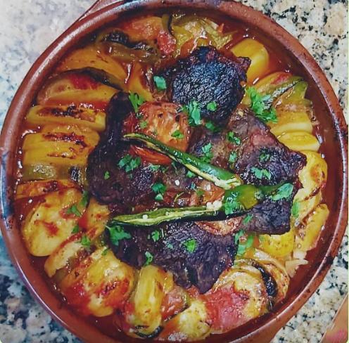 طاجن البطاطس باللحم علي الطريقة المصرية