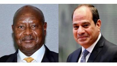 الرئيس السيسي يهنئ نظيره الأوغندي يوري موسيفيني بفوزه بولاية رئاسية جديدة
