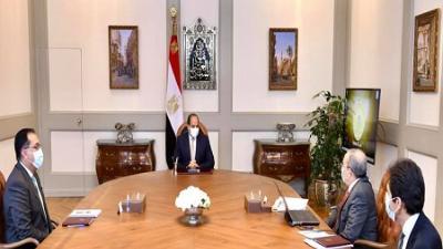 الرئيس السيسي يوجه بمواصلة تطوير مصانع الإنتاج الحربي