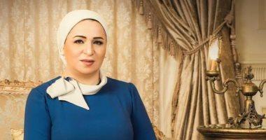 السيدة إنتصار السيسى، قرينة رئيس الجمهورية بالتهنئة إلي الأمة الإسلامية والعربية والشعب المصري بمناسبة حلول شهر رمضان المبارك